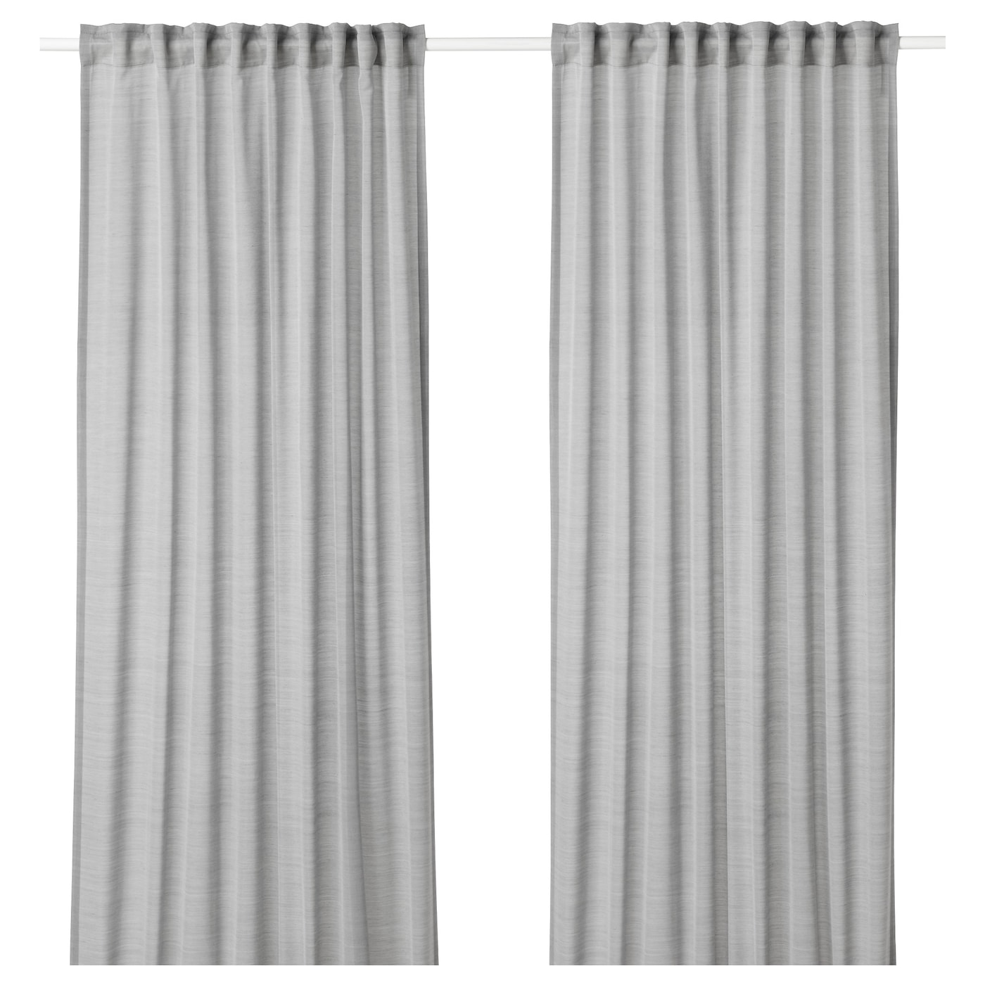 Hilja Curtains 1 Pair Grey 145x250 Cm Ikea