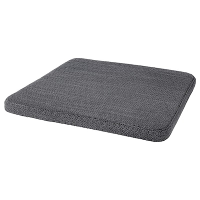 HILLARED Chair pad, anthracite, 36x36x3.0 cm