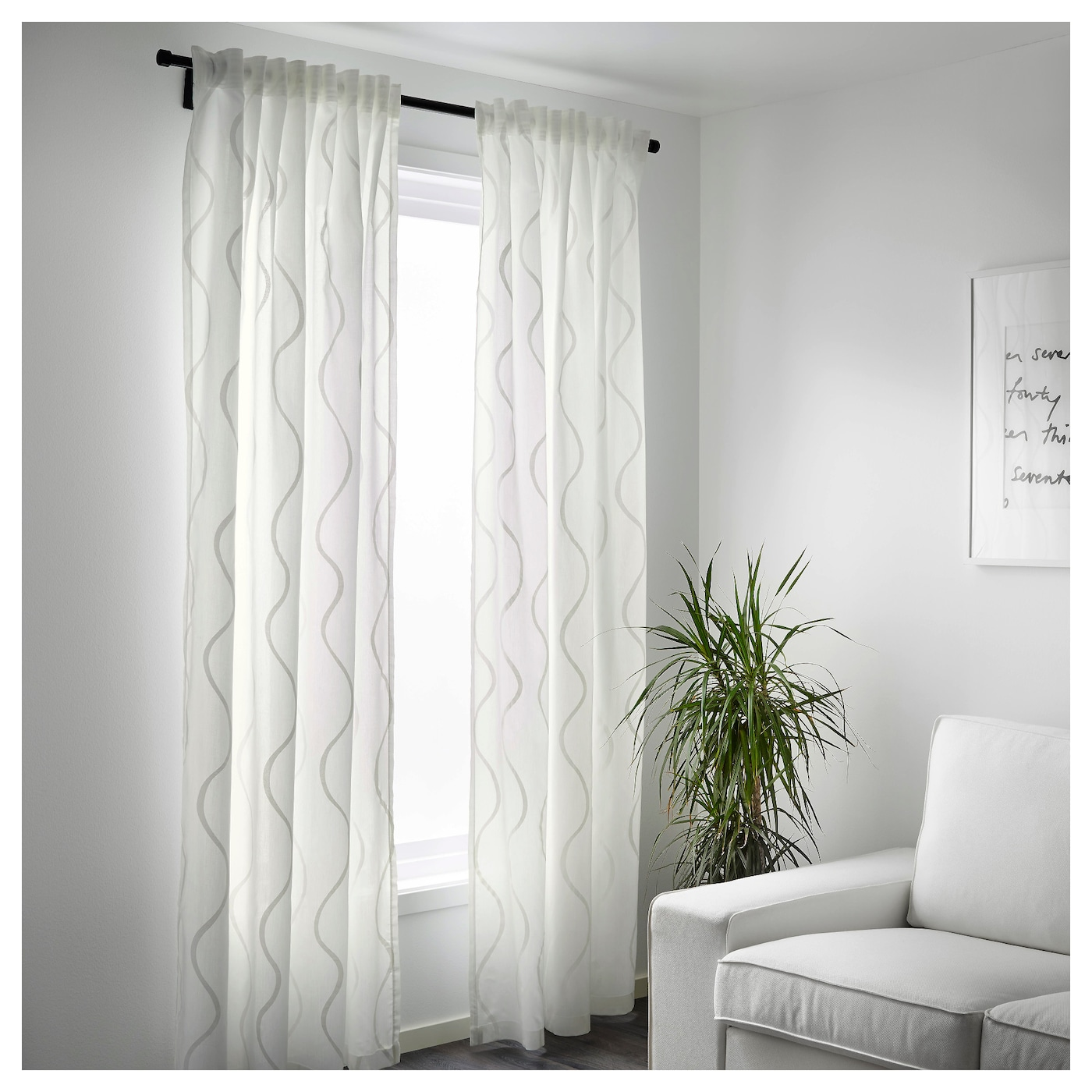 Hillmari curtains 1 pair white 145x250 cm ikea for White curtains ikea