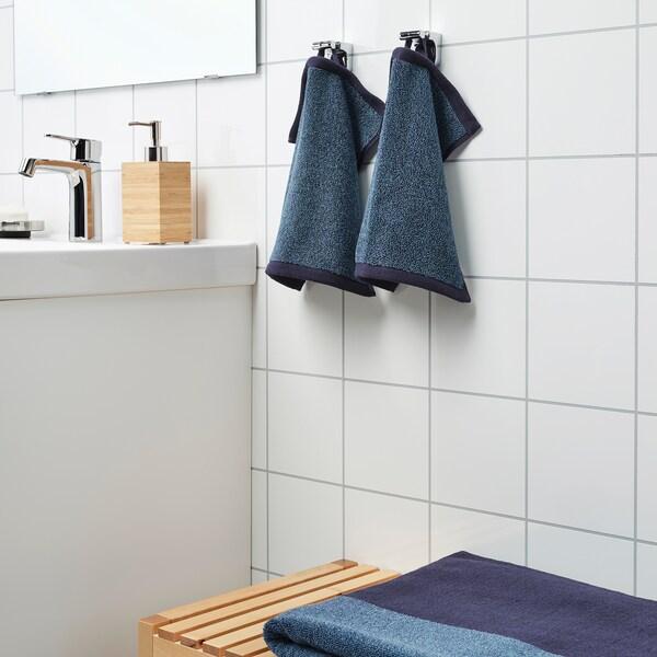 HIMLEÅN washcloth dark blue/mélange 500 g/m² 30 cm 30 cm 0.09 m²