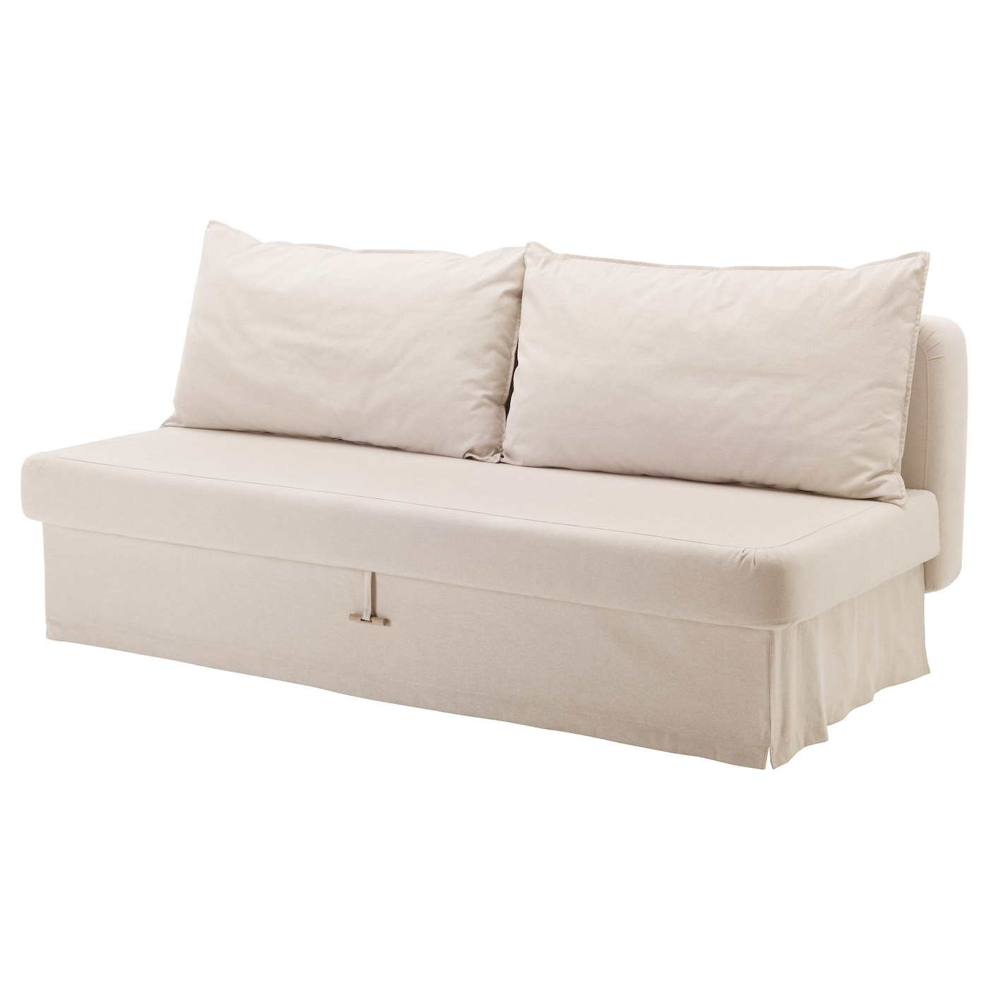 Himmene three seat sofa bed lofallet beige ikea for Sofa 170 cm breit