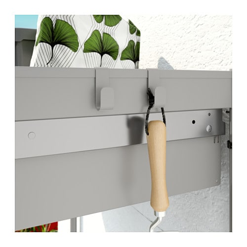 IKEA HINDÖ potting bench The drawers have pull-out stops to keep them in place.