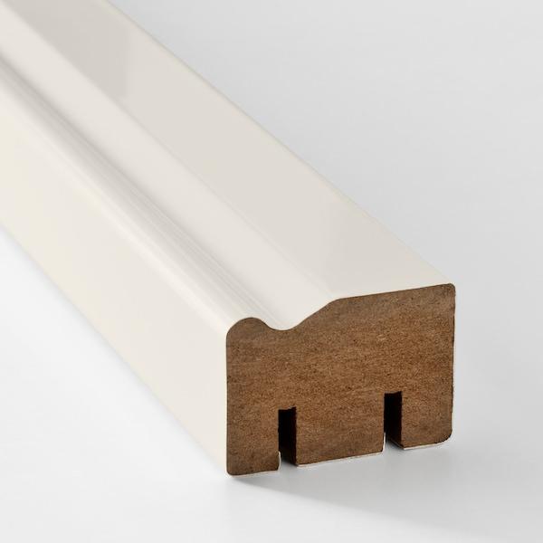 HITTARP contoured deco strip/moulding off-white 221 cm 2.8 cm 4 cm