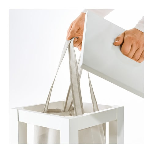 HJÄLMAREN Laundry bag with stand White 35 l  IKEA -> Ikea Wandregal Hjälmaren
