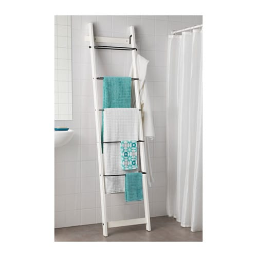 Hj lmaren towel holder white 190 cm ikea Towel storage ideas ikea