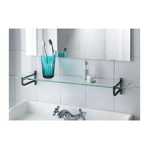 Ikea Flaxa Headboard Reviews ~ Glass shelf HJÄLMAREN