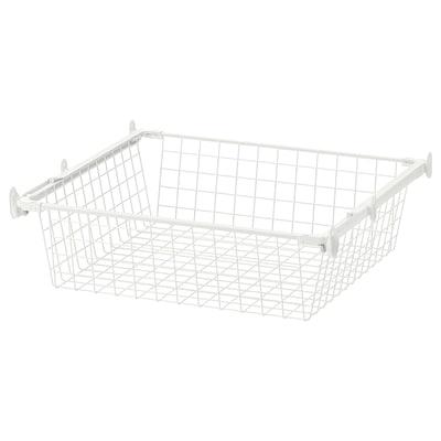 HJÄLPA wire basket with pull-out rail white 53.8 cm 60 cm 51 cm 15 cm 55 cm 7 kg