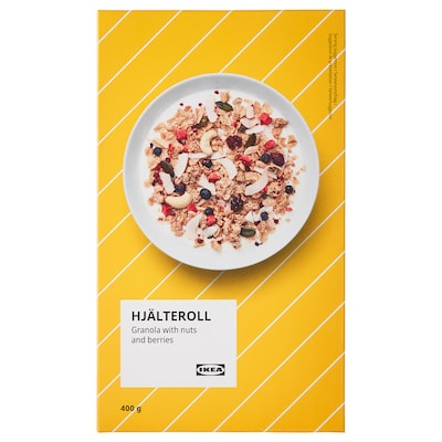 HJÄLTEROLL Granola, with nuts and dried berries, 400 g