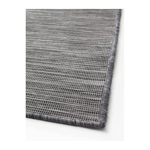 HODDE Rug flatwoven In outdoor grey black 200x300 cm IKEA