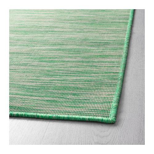 HODDE Rug flatwoven In outdoor green 160x230 cm IKEA