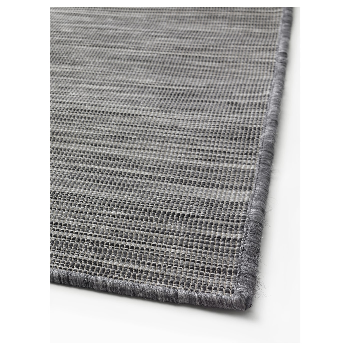 Hodde rug flatwoven in outdoor grey black 160x230 cm ikea for Outdoor teppich ikea