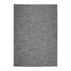 hodde rug flatwoven in outdoor grey black 160x230 cm ikea. Black Bedroom Furniture Sets. Home Design Ideas
