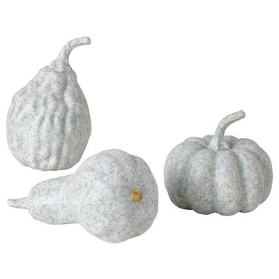 HÖSTKVÄLL Decoration pumpkin, set of 3, grey