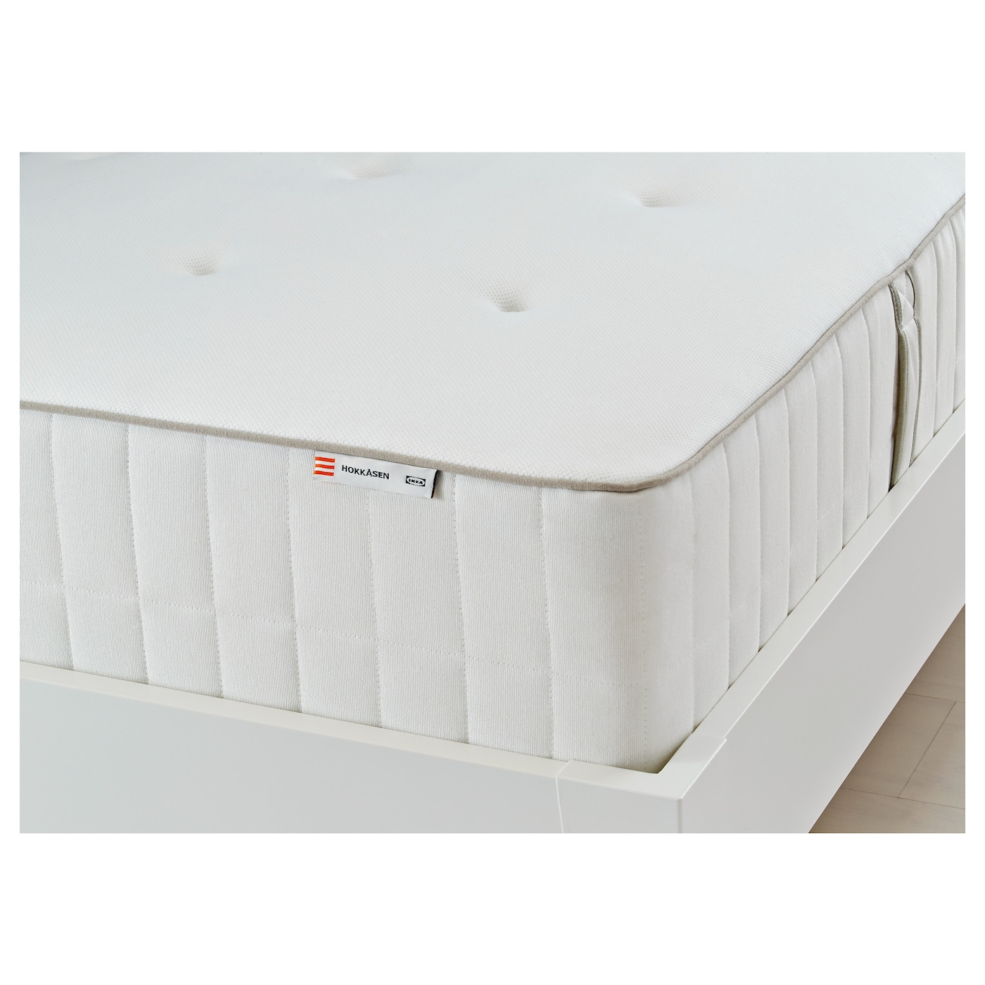 HOKKÅSEN Pocket sprung mattress Firm white Standard Single