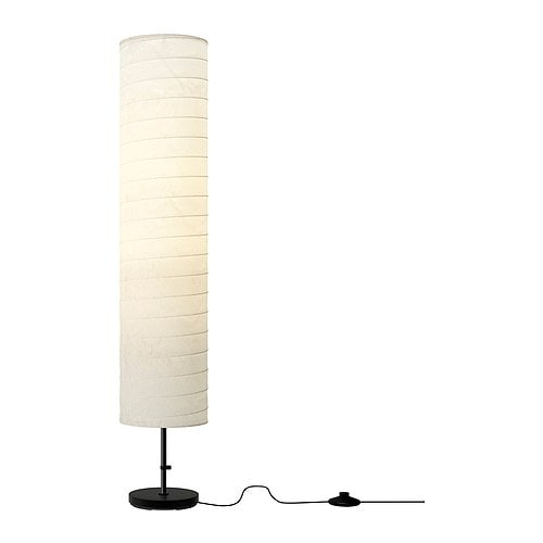 IKEA HOLMÖ floor lamp Gives a soft mood light.