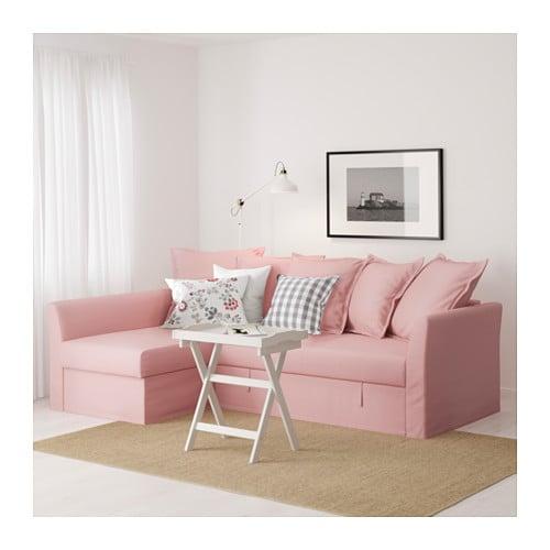 holmsund corner sofa bed ransta light pink ikea. Black Bedroom Furniture Sets. Home Design Ideas
