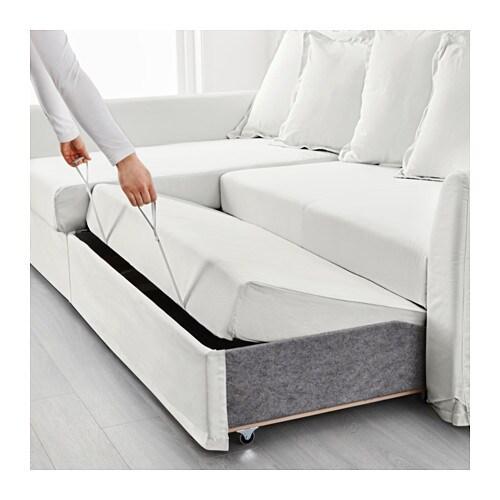 Holmsund corner sofa bed ransta white ikea for Sofa bed quebec