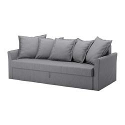 holmsund three seat sofa bed nordvalla medium grey ikea. Black Bedroom Furniture Sets. Home Design Ideas