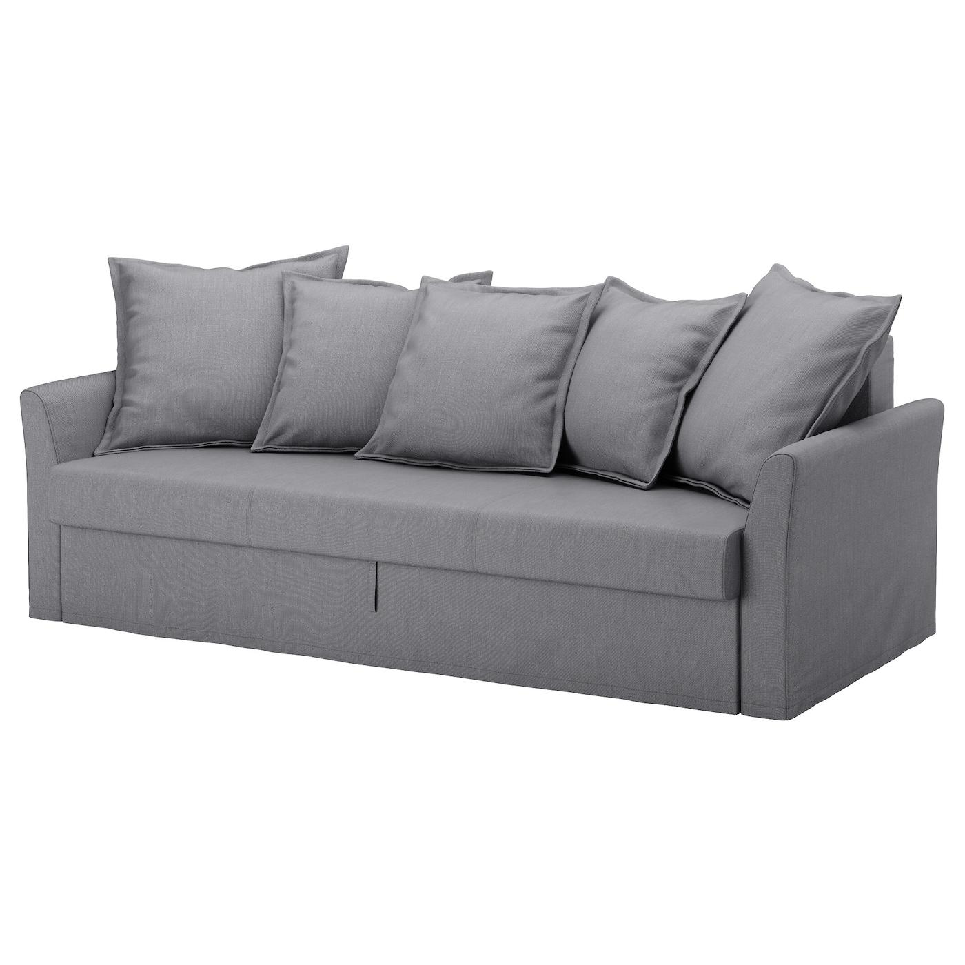 Holmsund three seat sofa bed nordvalla medium grey ikea for Sofa und seat