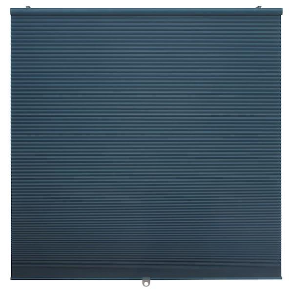 HOPPVALS room darkening cellular blind blue 155 cm 60 cm 0.93 m²