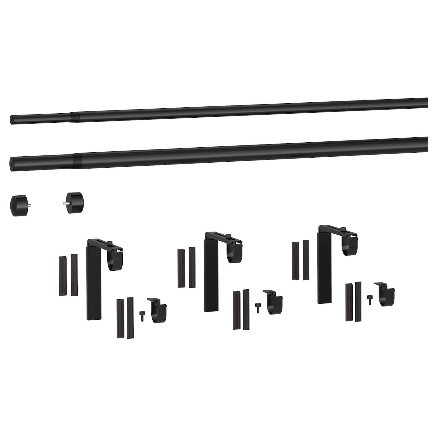 ikea hugadrcka double curtain rod combination the length is adjustable