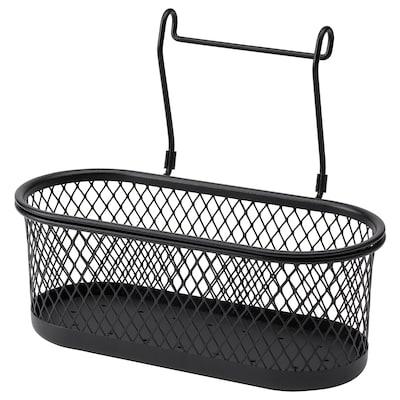 HULTARP Container, black/mesh, 31x16 cm