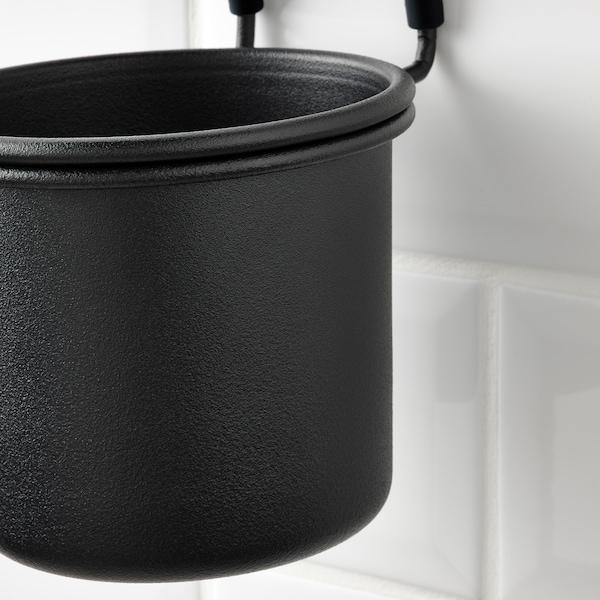 HULTARP Container, black, 14x16 cm