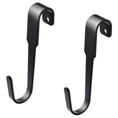 HULTARP Hook, black, 11 cm