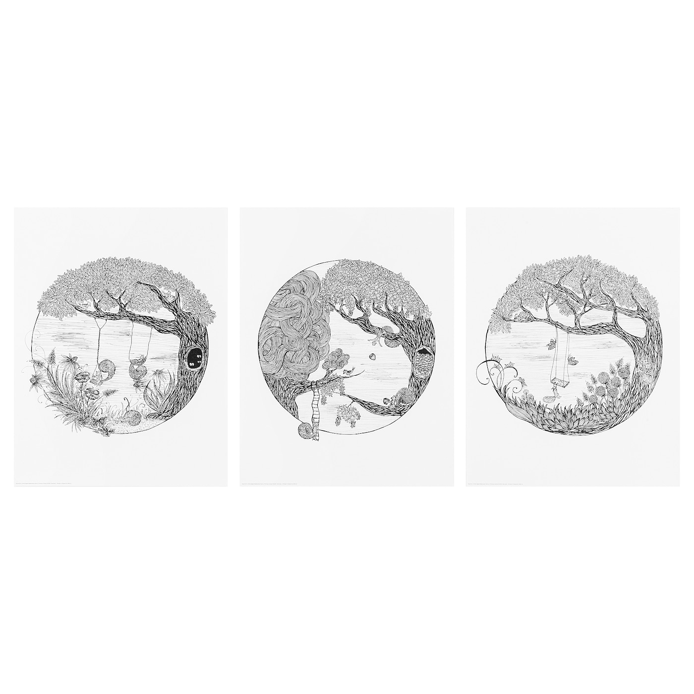 IKEA HUNGE poster, set of 3 You can personalise your home with artwork that expresses your style.