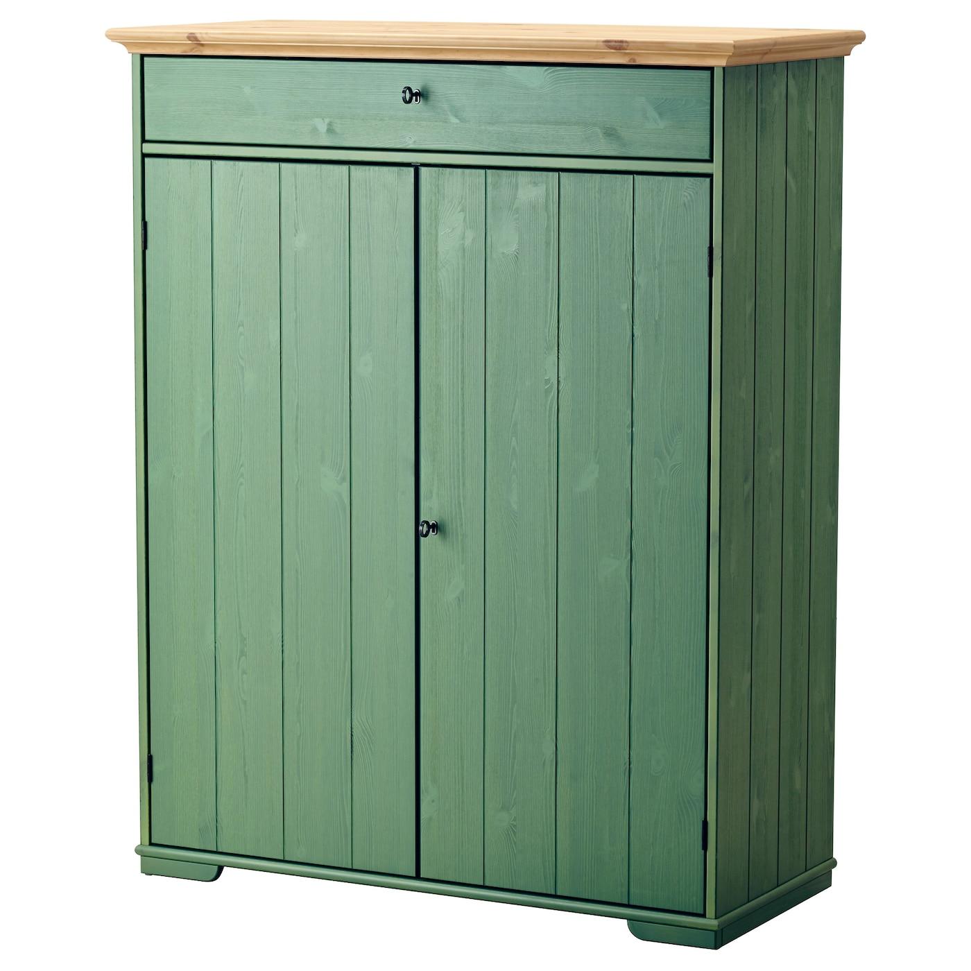 hurdal linen cabinet green 109x50x137 cm ikea. Black Bedroom Furniture Sets. Home Design Ideas