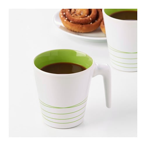 IKEA HURRIG mug Can be stacked inside one another to save space in your cabinets when not in use.