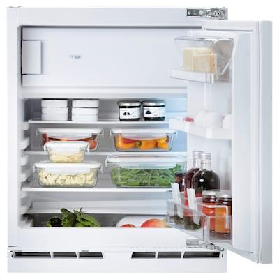 HUTTRA Integrated fridge w freezer compart, white, A++