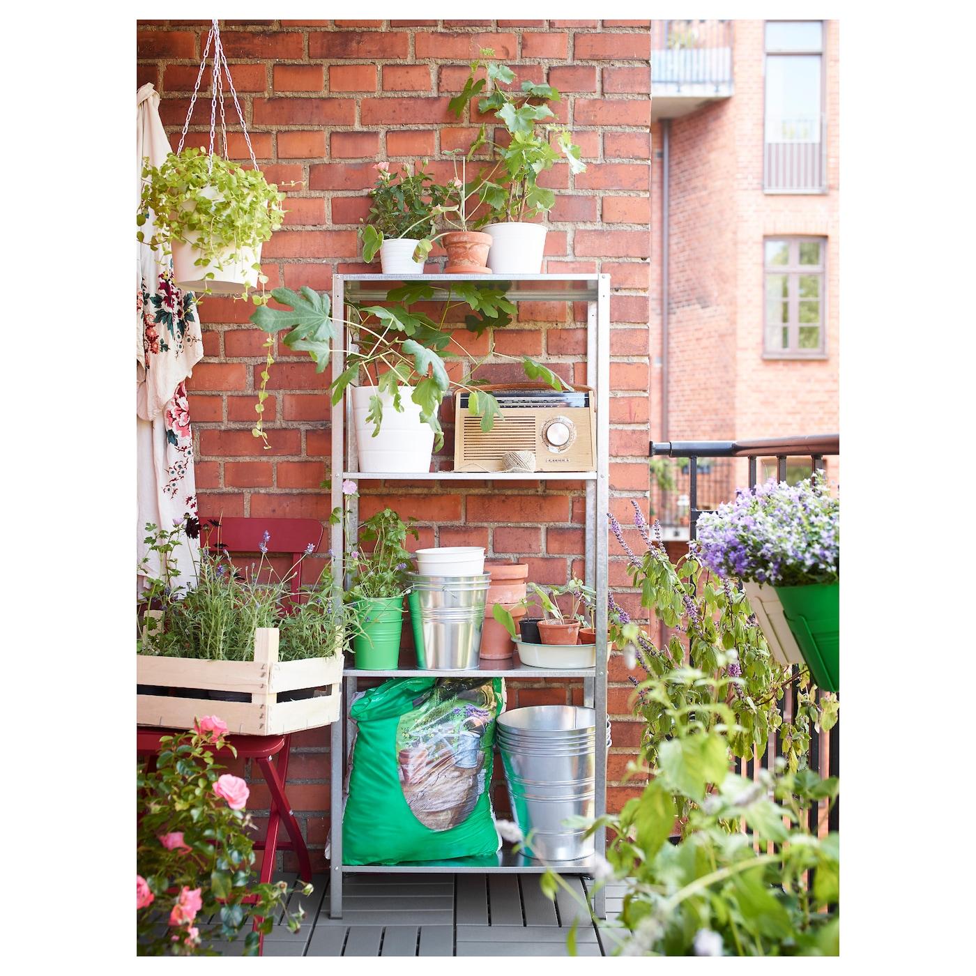 Hyllis shelving unit in outdoor 60x27x140 cm ikea for Ikea garden shelf