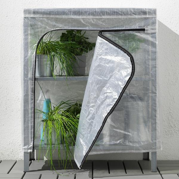 HYLLIS shelving unit with cover transparent 60 cm 27 cm 74 cm