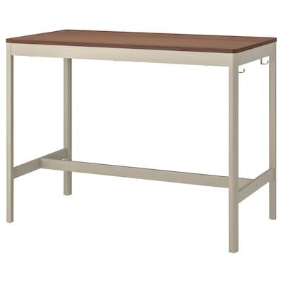 IDÅSEN Table, brown/beige, 140x70x105 cm