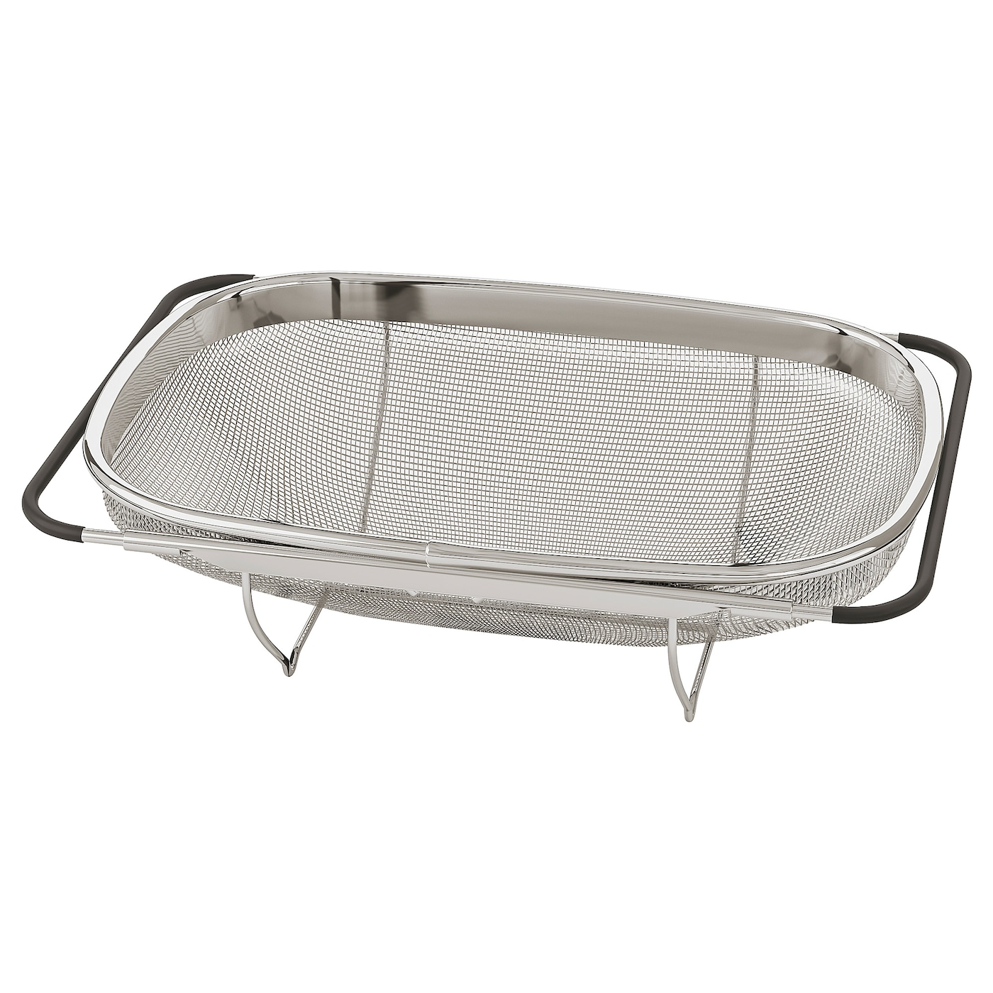 IKEA IDEALISK colander Fits most sink bowls since the handles can be adjusted.