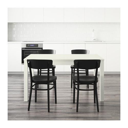 Idolf bjursta table and 4 chairs white black 140 cm ikea - Ikea black table and chairs ...