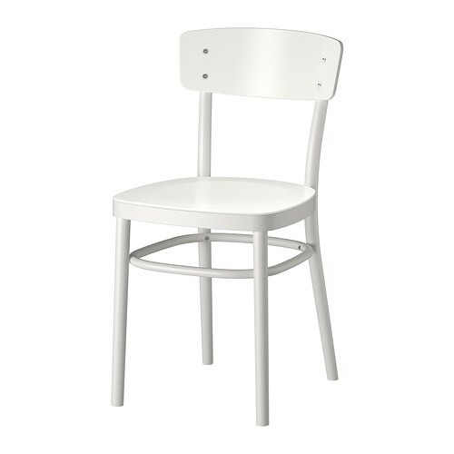 IKEA IDOLF chair You sit comfortably thanks to the shaped back.