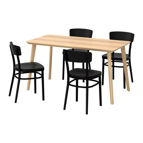 IKEA IDOLF LISABO Table And 4 Chairs Easy To Assemble As Each Leg Has