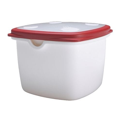 IKEA 365+ Food container IKEA Vent in the lid and rounded corners to ensure effective and even warming in the microwave.