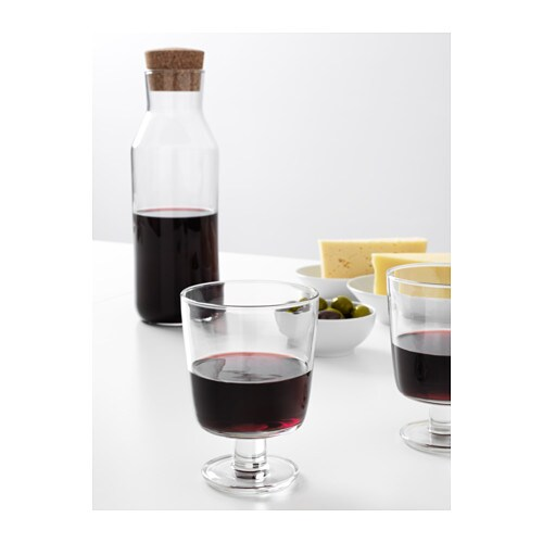 ikea 365 carafe with stopper clear glass cork 1 l ikea. Black Bedroom Furniture Sets. Home Design Ideas