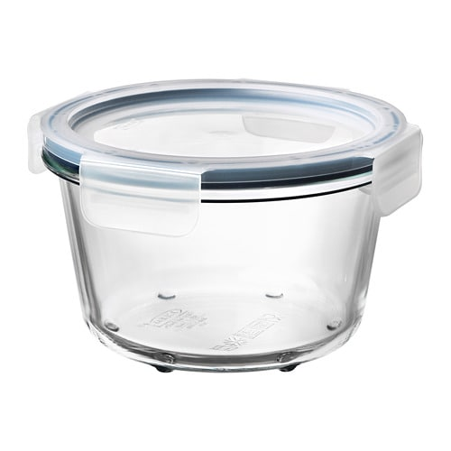 ikea 365 food container with lid round glass plastic 600 ml ikea. Black Bedroom Furniture Sets. Home Design Ideas