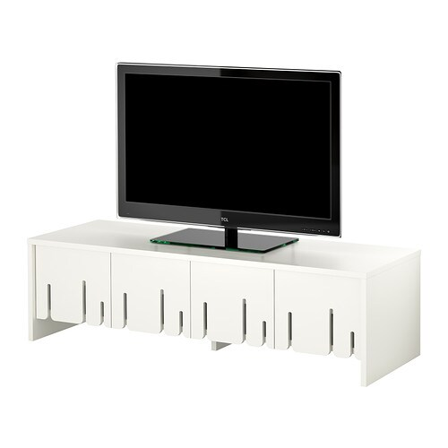 IKEA PS 2012 TV bench IKEA The doors fold open; saves space when open and gives easy access to the contents.