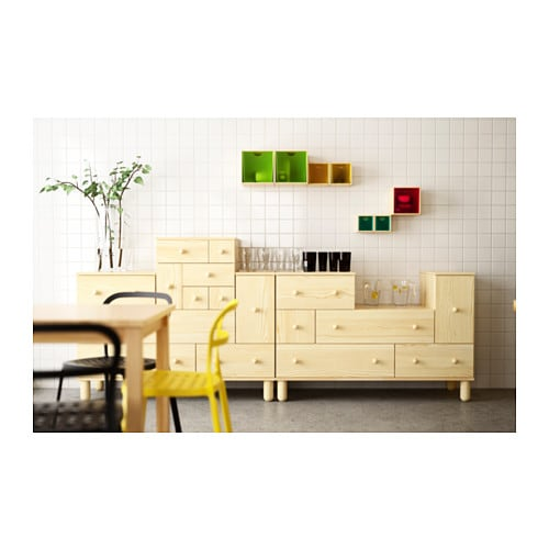 IKEA PS 2012 Addon chest of 6 drawers Pine 52x48x48 cm  IKEA