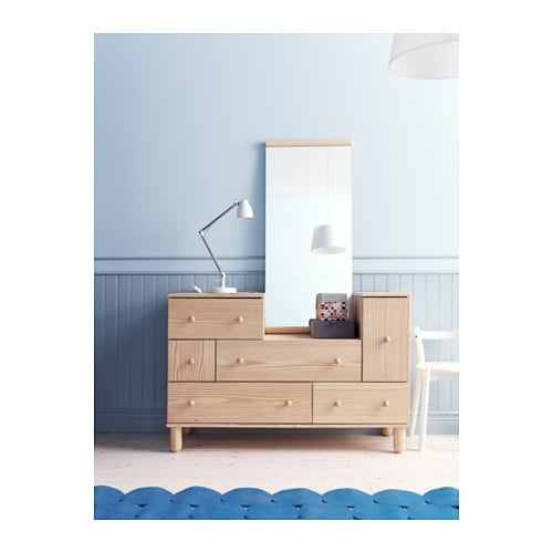IKEA PS 2012 Chest of 5 drawers1 door Pine 130x48x86 cm