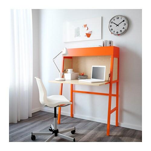ikea ps 2014 bureau orange birch veneer 90x127 cm ikea