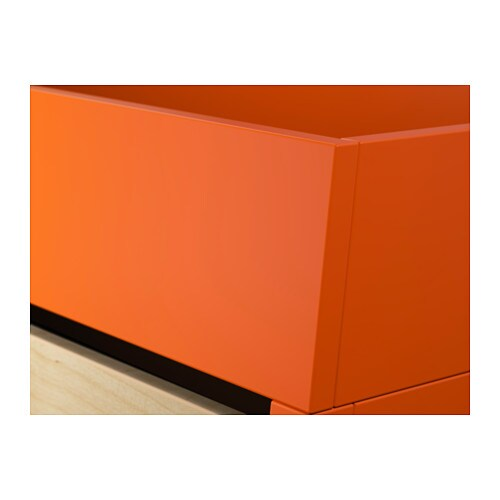Ikea ps 2014 bureau orange birch veneer 90x127 cm ikea for Bureau en pin ikea