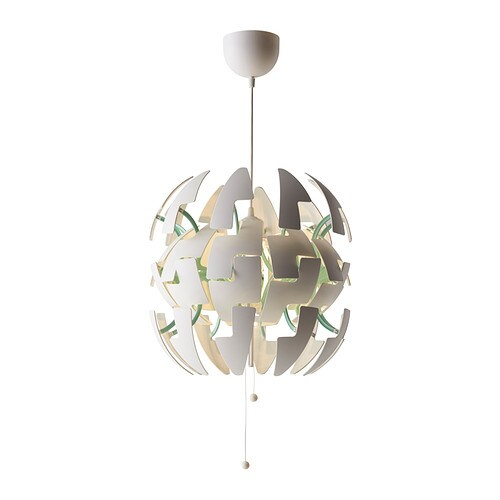 Ikea ps 2014 pendant lamp white turquoise ikea - Luminaire suspension ikea ...