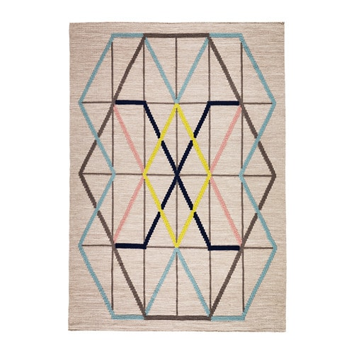 IKEA IKEA PS 2014 rug, flatwoven The rug has an embroidered pattern that adds depth and texture.