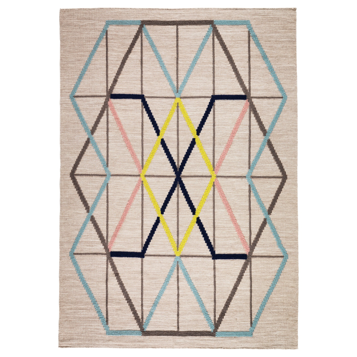Ikea Ps 2016 Rug Flatwoven The Has An Embroidered Pattern That Adds Depth